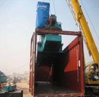 淳远国际大型货物装至开顶柜通过海运送走了