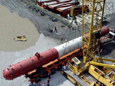 广东客户委托淳远将机组锅炉通过海运至欧美地区