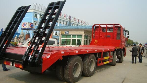 解放j6,7吨-12吨挖掘机拖车